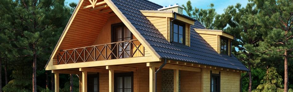Строительство деревянного дома: выбираем рамы и двери